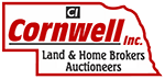 Cornwell, Inc. | Aurora, NE | Land & Home Brokers Auctioneers Logo